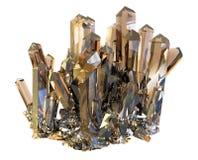 Kristall auf einem weißen Hintergrund lokalisiert Stock Abbildung