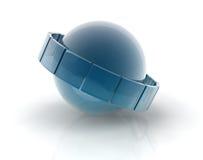 Kristall auf Sand Lizenzfreie Stockfotografie