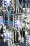 Kristall av den moderna ljuskronalampan Royaltyfri Foto
