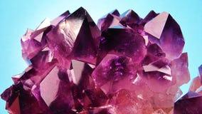 Kristall des Amethysts Stockfotografie