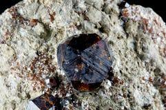 Kristall des Granats Stockbilder