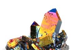Kristall med metallregnbågeyttersida Royaltyfria Foton