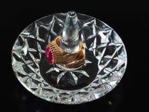 Kristall och guld Arkivbild