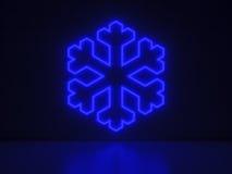 Kristall - serieneontecken Arkivfoton