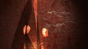 kristall Strålglans lek av ljus, lyx lager videofilmer