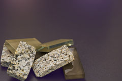 Kristall und Felsen Stockfoto