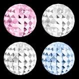 Kristall vier auf schwarzem Raum. Vektor Stockfotografie