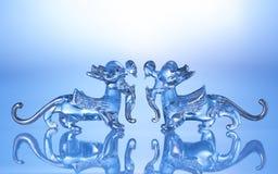 Kristalldrache lokalisiert auf weißem Hintergrund Lizenzfreie Stockfotografie