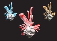 kristalle Lizenzfreie Stockbilder
