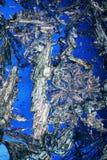 Kristalle auf Blau   Stockfotografie