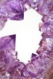 Kristalle des Amethysts Lizenzfreies Stockbild