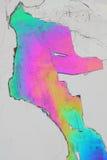 Kristalle des kupfernen Sulfats Stockbilder