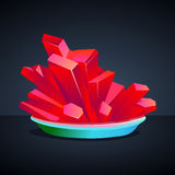 Kristalle des roten Blutsalzes Lizenzfreie Stockfotografie