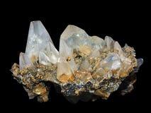 Kristalle eines kaltsit Stockbild
