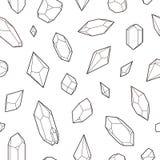 Kristalle, nahtloses Muster Lizenzfreies Stockfoto
