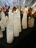 Kristalle neben einander Lizenzfreie Stockbilder