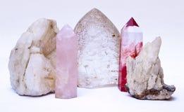 Kristalle und Steine stockbild