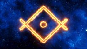 Kristalle von der göttlichen Wirklichkeit - OM-` Außentemperatur-` SAT - Lightworker stock video
