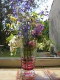 kristallen blommar vasen Fotografering för Bildbyråer