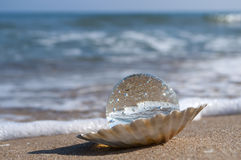 Kristallen bol als parel Royalty-vrije Stock Foto