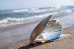 Kristallen bol als parel Stock Fotografie