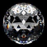 Kristallen bol met bezinning Royalty-vrije Stock Fotografie