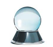 Kristallen bol over witte achtergrond - Malplaatje voor ontwerpers Royalty-vrije Stock Foto's