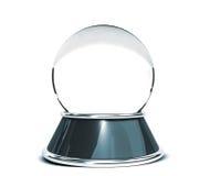 Kristallen bol over witte achtergrond wordt geïsoleerd - Malplaatje voor ontwerpers die Royalty-vrije Stock Afbeelding