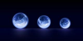 Kristallen bollen royalty-vrije illustratie