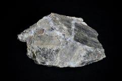 Kristallen för litiumSpodumene Pegmatite vaggar prövkopian arkivfoton
