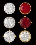 Kristallen in goud en zilver Royalty-vrije Stock Afbeelding