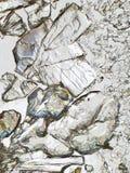 Kristallen onder Microscoop Royalty-vrije Stock Afbeeldingen