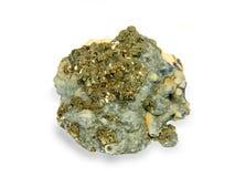 Kristallen van een kaltsit en pirit Royalty-vrije Stock Afbeelding