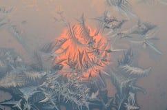 Kristallen van ijzig patroon Stock Afbeelding