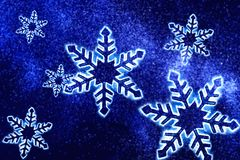 Kristallen van sneeuw Stock Foto