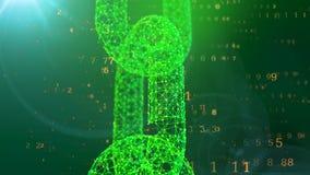 Kristallene Fessel widersteht einer gelben digitalen Matrix lizenzfreie abbildung