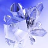 Kristaller vektor illustrationer
