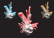 kristaller Royaltyfria Bilder