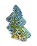 Kristaller av vismut Arkivfoton