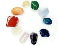 Kristaller för agat för sodalite för ametistkvartsgranatrött geologiska Royaltyfri Bild