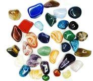 Kristaller för agat för sodalite för ametistkvartsgranatrött geologiska Arkivbild