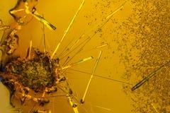 Kristaller för Ferric klorid fotografering för bildbyråer
