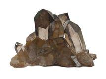 Kristaller för rökig kvarts royaltyfria foton