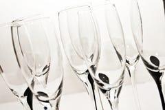 Kristallgläser für Champagner Stockbilder