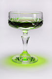 Kristallglas mit absynth Stockfotografie