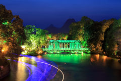 Kristallglasbrücke nachts Lizenzfreie Stockbilder