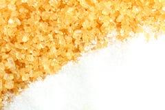 Kristallijne suiker en gekorrelde suiker Stock Afbeelding