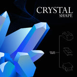Kristallijne symmetrie royalty-vrije illustratie