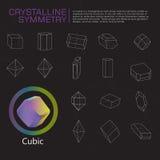 Kristallijne symmetrie stock illustratie