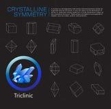 Kristallijne symmetrie vector illustratie